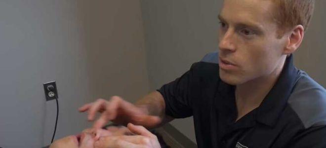 Как делать точечный массаж носа при гайморите?